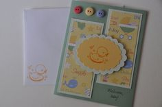 Green and Yellow Rubber Ducky Baby Card by StampsnStitches on Etsy, $3.50