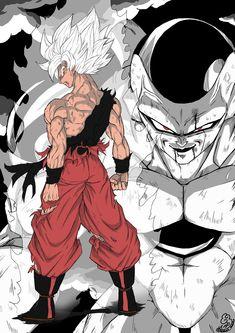 Goku Drawing, Ball Drawing, Goku Y Freezer, Dragon Ball Z, Goku Vs Frieza, Dbz Drawings, Goku Manga, Manga Anime, Captain America Wallpaper