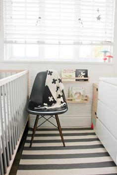 Black And White Tiny Nursery Small Baby Rooms Toddler Neutral