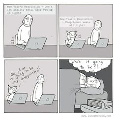 anxiety troll's resolution /aha! this is  why 3am is the time  I always wake up, unable to go back to sleep...