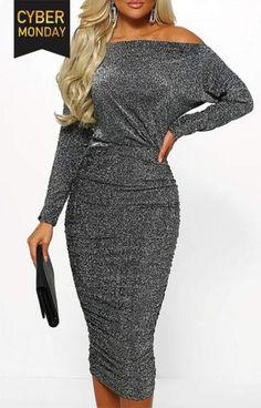 Womens Elegant V-Neck Cocktail Diamond Mid Waist Short Sleeves Long Maxi Dress
