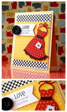 Cute sundress with dress up framelit - Stampin Up card using Dress Up framelits