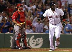 Boston, MA - 08/20/14 - (3rd inning) Boston Red Sox designated hitter David Ortiz (34) watches his solo home run leave the yard in the third inning. The Boston Red Sox host the Los Angeles Angels in the third of a four game series at Fenway Park. - (Barry Chin/Globe Staff), Section: Sports, Reporter: Julian Benbow, Topic: 21Red Sox-Angels, LOID: 7.4.1177586364.
