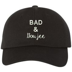 Boujee Cap Black (480.060 IDR) ❤ liked on Polyvore featuring accessories and hats