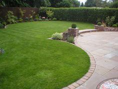 Curves in Poppleton, York Circular Garden Design, Back Garden Design, Back Gardens, Small Gardens, Outdoor Gardens, Garden Mum, Garden Yard Ideas, Backyard Plan, Landscape Design Plans