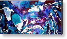 Bob Marley Acrylic Prints - Light my Fire Acrylic Print by Joo Chung