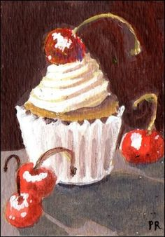 """Daily Paintworks - """"Something Sweet"""" - Original Fine Art for Sale - © Patricia Ann Rizzo"""