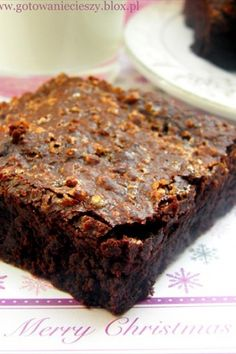 Christmas Brownie with Orange.great idea but can't translate recipe! Sugar Free Brownies, Chewy Brownies, Healthy Brownies, Caramel Brownies, Vegan Brownie, Gluten Free Brownies, Homemade Brownies, Peanut Butter Brownies, Best Brownies