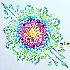 Hey, Im ElenaNew post twice a day! Mandalas from other artists and myself :)Enjoy your stay and get inspired! Mandala Doodle, Mandala Sketch, Mandala Drawing, Zen Doodle, Doodle Art, Mandala Artwork, Mandala Design, Mandala Pattern, Zentangle Patterns