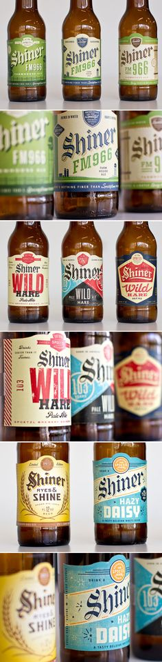 Very classy Shiner Beer labels that never made it to production. #beer #labelvalue                                                                                                                                                      Más