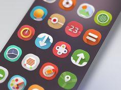 Beautiful iPad app interface Dribbble - App UI - Nav Bar by Gert Tzafa Examples of UI Design Inspiration, Android UI & iPhone UI Design Awes. Interaktives Design, Game Design, Icon Design, Flat Design, Graphic Design, Gui Interface, User Interface Design, Wireframe, Badges