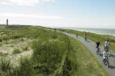 fietsroute langs de kust, van Breskens tot het Zwin