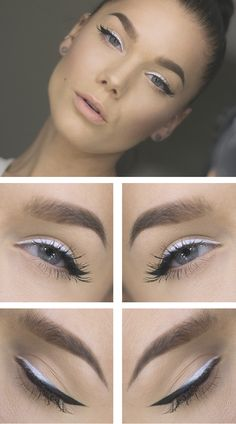 ombre black white liner
