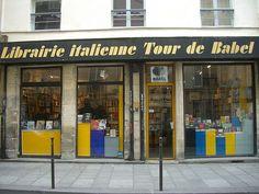 La Tour de Babel, librairie italienne – 10 rue du Roi-de-Sicile, Paris IVe