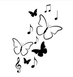 I want this dazzling music tattoo Music Drawings, Art Drawings Sketches Simple, Pencil Art Drawings, Easy Drawings, Simple Wall Paintings, Creative Wall Painting, Wall Painting Decor, Art Decor, Paint Designs
