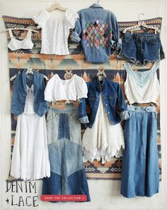 Our New Vintage Loves Collection: Denim & Lace www.freepeople.com