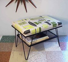 Mid Century Modern Green Chartreuse Stool by RustySpoke on Etsy, $145.00