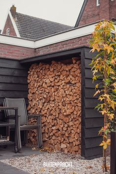 Carport Ideas, Firewood, Shed, Cabin, Garden, Outdoor, Bricolage, Outdoors, Woodburning