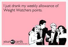 Drinking Weight Watchers