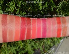 Rayonnante. Chanel Rouge Allure Swatches of All Shades