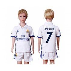 07695f66 Real Madrid Fotbollskläder Barn 16-17 Cristiano Ronaldo 7 Hemmatröja  Kortärmad Nachos, Hipster Shirts