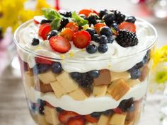 Tri-Berry Trifle