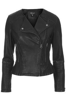 Faux Leather Peplum Biker Jacket - Jackets & Coats - Clothing - Topshop USA