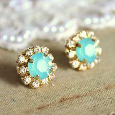 turquoise earrings #studs