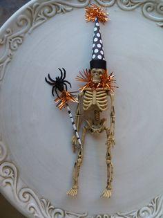 Skeleton Halloween Decorations by JeanKnee ...cute ornament