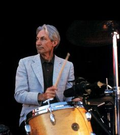Charlie Watts-The Rolling Stones Charlie Watts, Mavis Staples, Gretsch Drums, Los Rolling Stones, Have A Great Friday, Ron Woods, Vintage Drums, Stone World, Drummer Boy