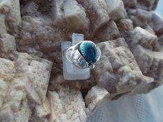Native American Sterling Silver Turquoise by periwinkleantiques, $35.00