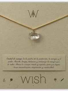 Collar Cristal De Cuarzo Piedra de la Protección. Wish
