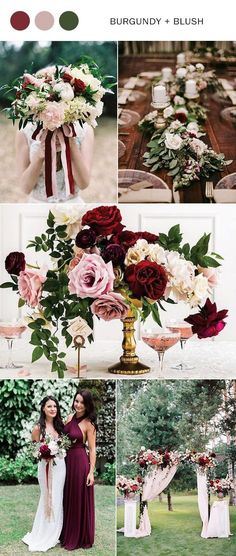 burgundy and blush wedding color ideas for 2019