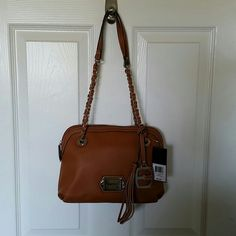 NWT Ellen Tracy  structured dome satchel Brand new. purchased for every day use and found something I liked better. Never been used. Faux leather. She is a beauty that deserves a great home. Ellen Tracy Bags Satchels