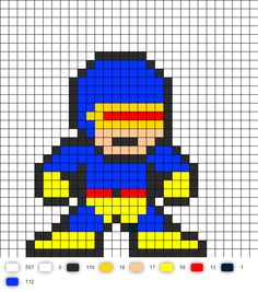 Cyclops Perler Bead Pattern