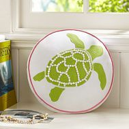 Turtle - use tiny white shells or beads for outline and texture of shell