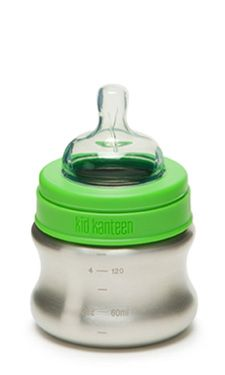 New stainless steel baby bottles from Klean Kanteen