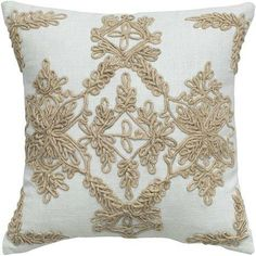 Love the intricate work on this Ship's Rigging Pillow from India Hicks!