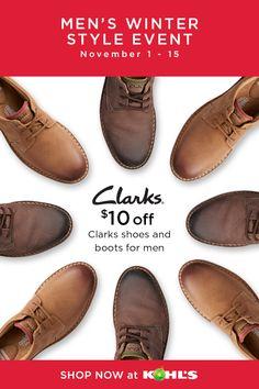 Clarks shoes, Mens