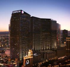 http://www.vegas-venues.com - Cosmopolitan Las Vegas Exterior View at night #fb