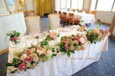 新郎新婦様からのメール シェ松尾天王洲倶楽部様の装花 :メインテーブル
