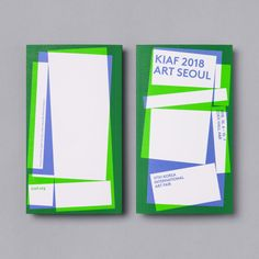 Visual identity of posters, catalogues, programmes, tickets and banners by Studio fnt for Korea International Art Fair 2018 Event Branding, Branding Design, Catalogue Layout, Art Book Fair, Art Fund, Ticket Design, Leaflet Design, Bussiness Card, Easy Crafts For Kids