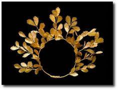 Hellenistic gold wreath circa 4th-3rd century bc.