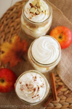 Caramel Apple Angel Food Cake Jars + $50 Visa Giveaway with Sara Lee! http://www.thecomfortofcooking.com/2013/10/caramel-apple-angel-food-cake-jars.html