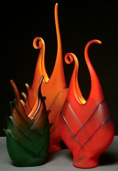 Ed Branson Glass   Hand-blown Art Glass: Vases, Bowls, and Sculpture