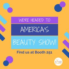 We decided it was time we saw #AmericasBeautyShow for ourselves! We'll be there later this month, networking and learning about what's new in beauty.