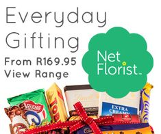 NetFlorist - SA's Largest Online Flower And Gift Delivery Service. Flower Delivery Service, Pop Tarts, Chocolates, Snack Recipes, Chips, Breakfast, Flowers, Gifts, Food