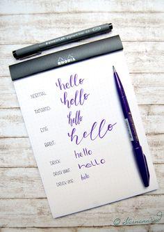 [Lettering #4] Grundlagen des Lettering: Techniken, Strichstärke, Faux Calligraphy, Schriftvariationen http://wp.me/pGCcY-Pm