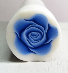Royal Blue Polymer clay ROSE cane by sigalsart on Etsy
