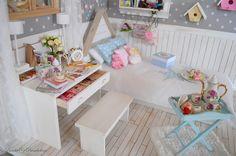 Desk details. OOAK Diorama nordic stars | by Bimba Bambolina (Yolanda)